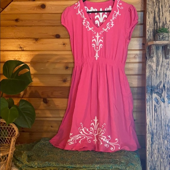 Double D Ranch western embroidered dress